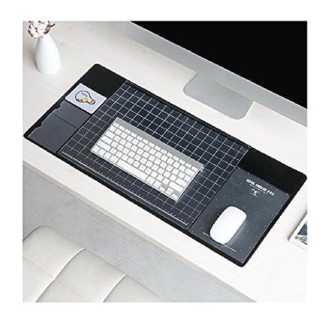 multifonction Tapis de table, Doulukit PVC pour carte Manomètre à cadran XXL clavier Tapis de souris (700* 330* 1.8MM), noir, 700*330*1.8mm