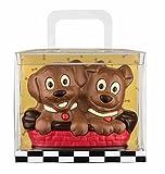 Schokoladen Geschenkpackung Hundekörbchen, 225g