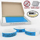 Bracelets d'admission GA Event Solutions en Tyvek, 1000 pièces, bleu clair