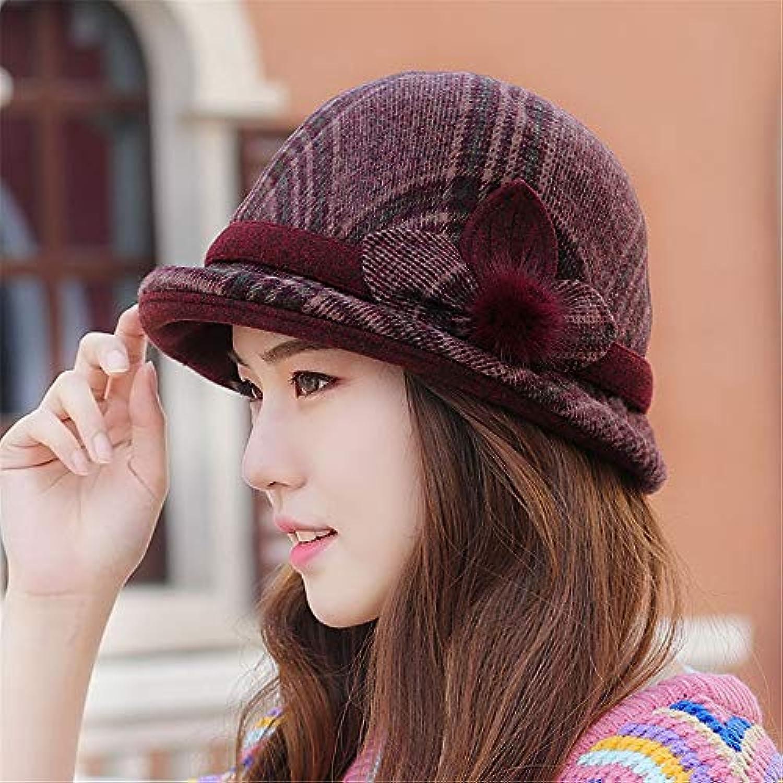 RangYR Il Cappello di di Cappello Lana delle Donne Cappello Cappello 54Cm -  58Cm Un Bordeaux b833d2ee2eb4