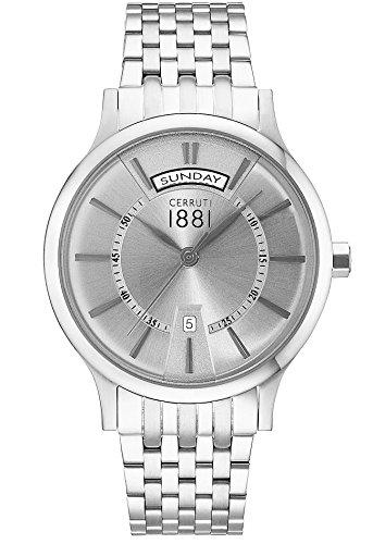 Cerruti Reloj Analógico para Hombre de Cuarzo con Correa en Acero Inoxidable CRA128SN04MS