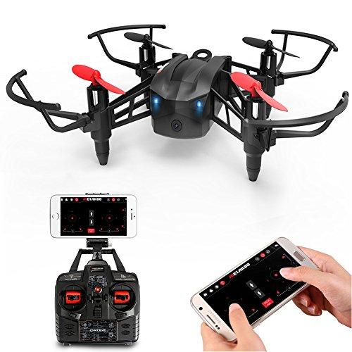 Metakoo RC Drone, con Cámara HD WiFi FPV, Estructura Permeable al Viento, 6-Axis Gyro, Retención de Altitud, Velocidad Ajustable, Modo sin Cabeza, la Tecla de Despegar/ Aterrizar, 3D Flips, VR, M5