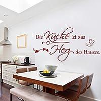 Wandschnörkel ®HM~AA068 Wandtattoo Die Küche ist das HERZ des Hauses Wandaufkleber++viele Farben und Größen++