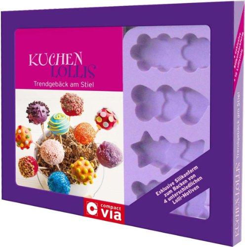 Kuchen-Lollis. Trendgebäck am Stiel: Box mit Buch, Silikonform für Cake Pops und Lolli-Stielen