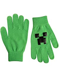 Official Minecraft - Creeper - Mittens in Green / Black