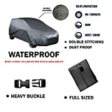 Fabtec Original Waterproof Double Stitched Black & Grey Light Weight Car Body Cover For Honda Amaze