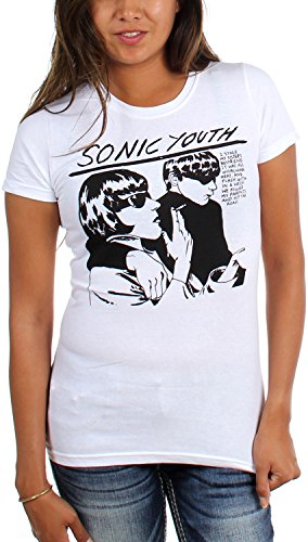 Sonic Youth–Maglietta da donna bianco Goo White