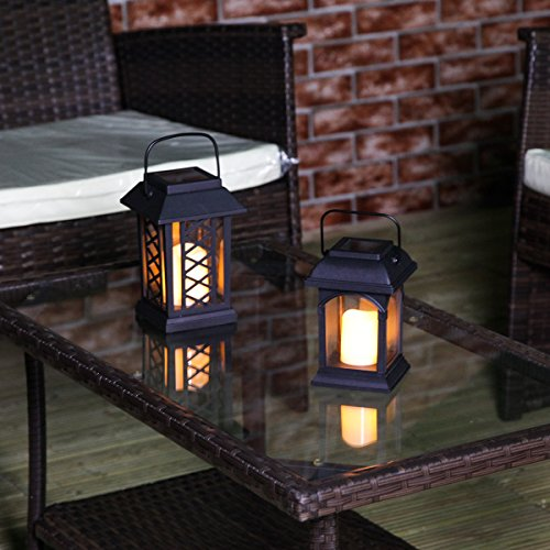 Garden-Candle-Lantern-Solar-Powered-Flickering-Effect-Amber-LED-15cm-by-Festive-Lights