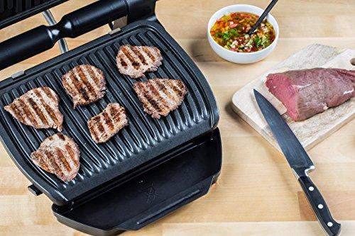 Tefal OptiGrill+ Smart GC730D Kontaktgrill (mit App-Steuerung für ideale Grillergebnisse, 2.000 Watt, automatische Anzeige des Garzustands, 6 voreingestellte Grillprogramme) schwarz/edelstahl - 3