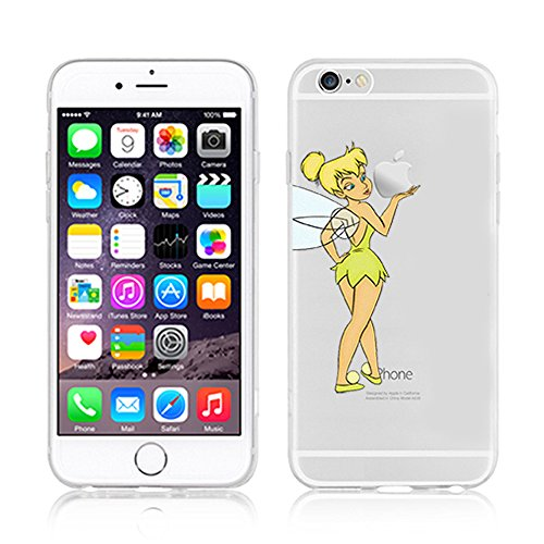 NEW Disney PRINCESSES Transparent TPU Soft case for Apple Iphone 7 TINKERBELL