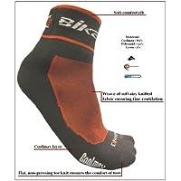 eXPANSIVE CYCLING BIKE SOCKS CoolMax BLACK & RED 064/01 size UK 6-8 (EUR 39-42) by (Rib Socks)