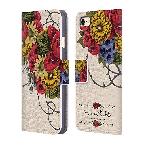 Offizielle Frida Kahlo Porträt Muster Lumig Rot Brieftasche Handyhülle aus Leder für Apple iPhone 5c Rebe