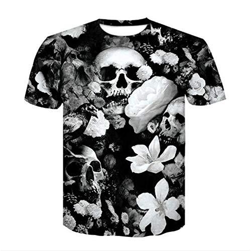 Männer Frühling Sommer Männer T-Shirts 3D Gedruckt Tier t-Shirt Kurzarm Lustige Design Casual Tops Tees Männlich,3D-Druck Mode - EIN schwarzer 3XL -
