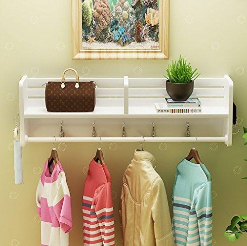 Porte-manteaux, porte-chaussures, porte-bagage, porte-vêtements, présentoir de vêtements blancs, présentoir mural en bois ( taille : 40*16.5*25cm )