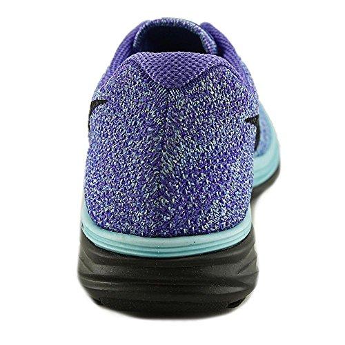 Nike Flyknit Lunar 3 Synthetik Laufschuh Lght Aq/Blck-Prsn Vlt-Unvrsty