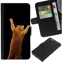 EuroCase - Apple Iphone 6 PLUS 5.5 - garfield ginger playing cat jump red - Cuero PU Delgado caso cubierta Shell Armor Funda Case Cover