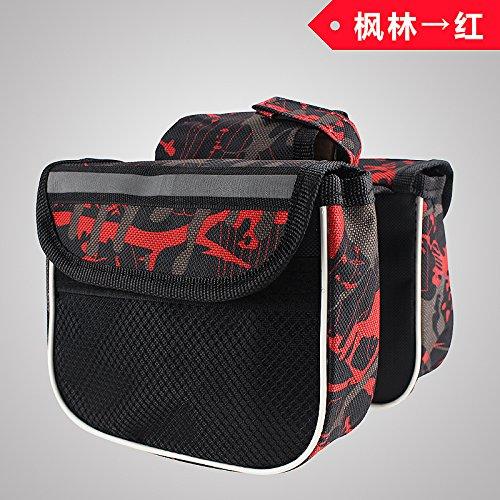 XY&GKFahrrad obere Rohr Mountainbike Sattel Tasche vorderen Trägers Pack Reiten Ausrüstung Fahrrad Zubehör Tasche Handy Tasche, machen Ihre Reise angenehmer gules