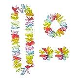 Widmann 24563 - Hawaii-Set, Hawaiirock mit Blumengürtel, Blumenkette, Kranz und 2 Armbänder, Sonstige Spielwaren