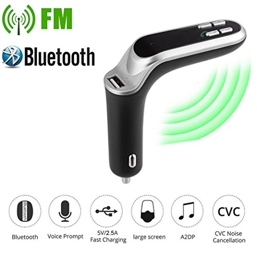 HARRYSTORE G7 Auto FM Sender Bluetooth Hände frei LCD MP3 Spieler Radio Adapter Bausatz Ladegerät (Grau)