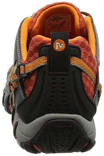 Merrell Waterpro Maipo, Chaussures de Randonnée Basses Homme Multicolore (Dark Grey/Spicy Orange)