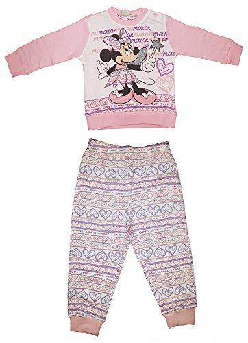 Pigiama neonata manica lunga cotone leggero minnie art. wd101127 nuova collezione rosa (18 mesi)
