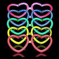10 Gafas Luminosas Glow Corazón Regalo 30 Pulseras Glow