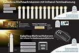 12er Set LED Weihnachtskerzen Elfenbein / Creme inkl. Batterien und Befestigungsclips, Flackermodus, GS geprüft, kabellose Weihnachtsbaumbeleuchtung für Innen- und Außen
