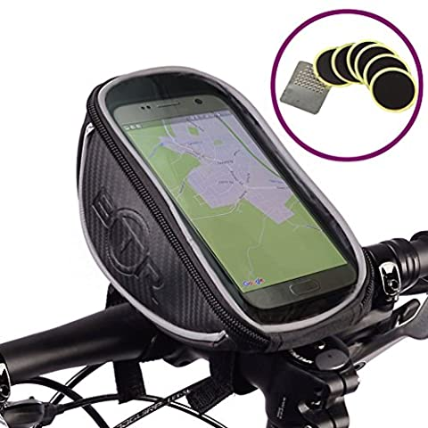 2- in 1 GPS/ Phone Handlebar Bag by BTR: The Exceptional Bike Phone Holder helping you to never get lost again! Now with 6 FREE puncture repair patches. Standard & Deluxe Versions Available