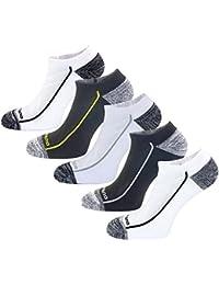 Aaronano 5 Pairs Men Half Cushioned Terry Athletic Running Socks Size(5.5-11 UK/38-46 EU)