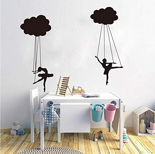 Kyzaa Cartoon Cloud Puppet Ballerinas Wandaufkleber Kinderzimmer Kinderzimmer Tänzer Marionette Puppe Wandtattoo Kinderzimmer Schlafzimmer Vinyl
