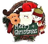 ZHRUI Guirlande de noël Bonhomme de Neige Dessin animé en 3D Mignon Renne Guirlande du père Noël (coloré : Vert, Taille : Taille Unique)