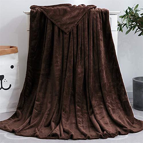 Kuscheldecke,Farbe Flanell Coral Fleece Decke Nach Decken Für Betten Sofa Winter Braune Decke Kinder Tagesdecke Auf Dem Bett Werfen,200 X 230 cm