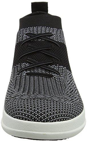 Zapatillas Nero Di Mazarine Blu Di Fitflop Uberknit Alte Slip-on Multicolor (negro / Carbón)