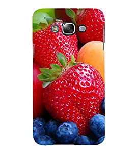 99Sublimation strawberry and Grapes 3D Hard Polycarbonate Back Case Cover for Samsung Phones