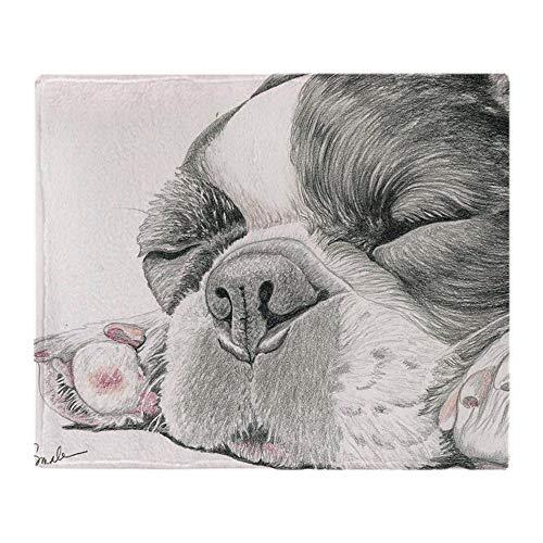 YISUMEI - Manta Polar Suave - Manta de Perro Bulldog francés Dormido,...