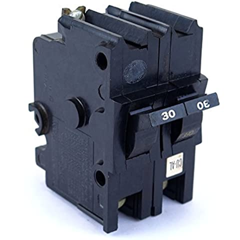 FEDERAL PACIFIC NBN221030 FPE Switch Neutral Circuit Breaker 2 Pole 30 Amp by FEDERAL PACIFIC