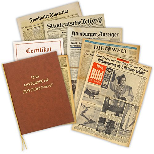 Zeitung vom Tag der Geburt 1952 - historische Zeitung inkl. Mappe & Zertifikat als Geschenkidee