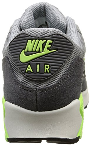 Nike Air Max 90 Essential, Chaussures de Sport Femme gris (Wlf Gry/Ghst Grn-Drk Gry-Smmt)