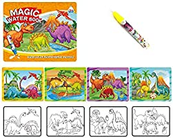 Sipobuy Magic Water Drawing Book Water Coloring Book Doodle with Magic Pen Painting Board for Children Education Drawing Toy