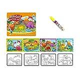 Sipobuy Livre de Dessin de l'eau Magique Coloriage de Livre d'eau à griffonner avec Un Stylo Magique Conseil de Peinture pour Enfants Éducation Dessin Jouet (Dinosaure)...