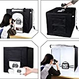 #2: Styleys Cube Box Black LED Lighting Table Top Photo Shooting Tent Kit With Portable Bag, AC Adapter