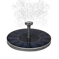 Lixada Solar-power Fountain Brushless Pump Plants Watering Kit with Monocrystalline Solar Panel for Bird Bath Garden Pond Energy-saving Environmental-friendly Universal