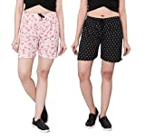 #6: Bfly Women's Printed Cotton Hosiery Shorts-Pack of 2 (WSHORTSCOMBO-1-6)
