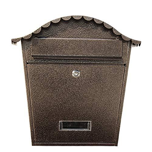 Shao jun cassetta delle lettere - lamiera zincata, ferro battuto per esterno europeo, parete esterna per esterni, creativa, impermeabile, cassetta delle lettere, adatta per ville, cortili, case - disp