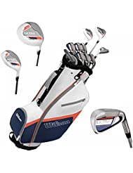 Wilson Ultra Damen Komplettes Golfschläger Set & Cart Tasche Schläger aus Graphit Golf Komplettset Eisen Hölzer Driver Bag Rechts-Hand