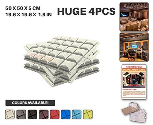 ace-punch-4-pack-hemisphere-grid-acoustic-foam-panel-diy-design-studio-soundproofing-wall-tiles-soun