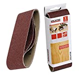 3x KRT240505 Schleifband für Bandschleifer Holz G80 65x410mm