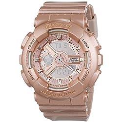 CASIO BABY-G BA-111-4AER - Reloj de cuarzo con correa de resina para mujer, color oro rosa