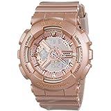 Casio Baby-G BA-111-4AER - Reloj de cuarzo para mujer, correa de silicona color oro rosa, esfera oro rosa