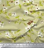 Soimoi 58 Zoll breit mit Blumenmuster Cotton Popeline